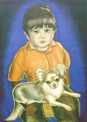 Boy with Ladeira (Chihuahua-girl)